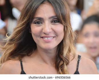 Giffoni Valle Piana, Sa, Italy - July 21, 2017 : Ambra Angiolini at Giffoni Film Festival 2017 - on July 21, 2017 in Giffoni Valle Piana, Italy