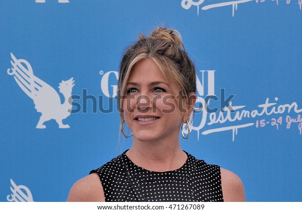 Giffoni Valle Piana, Sa, Italy - July 23, 2016: Actress Jennifer Aniston at Giffoni Film Festival 2016 - on July 23, 2016 in Giffoni Valle Piana, Italy   case#03338435