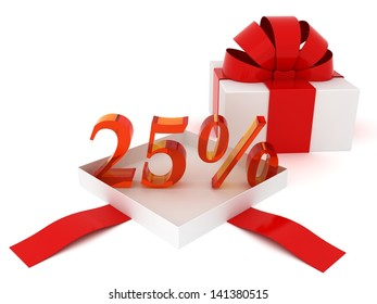 Gift and 25 percent