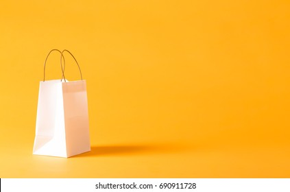 Gift bag on a yellow background