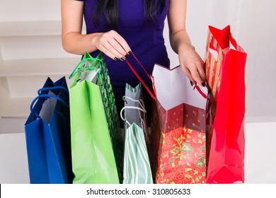 Gift Bags for Christmas - studio shoot