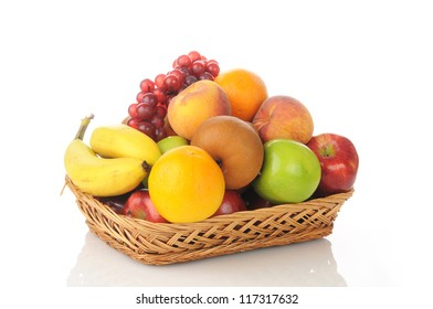 A gift basket loaded with healthy fresh fruit