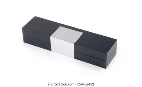 Gift black box isolated on white background