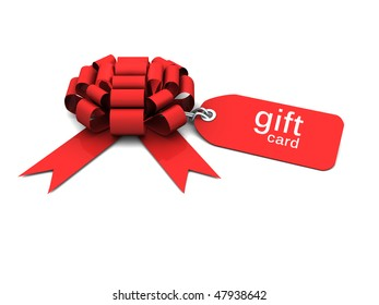 gift bow with tag