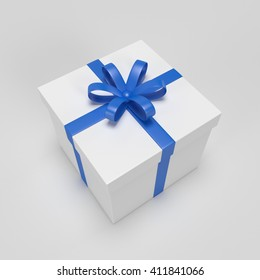 Gift box 3d render top view