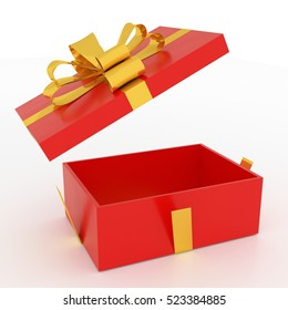 Gift Box 3d rendering