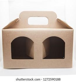 gift box in brown cardboard