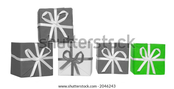 Gift box (b&w photo with color element)