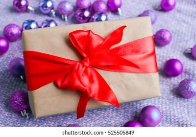 Gift box with Christmas decoratio