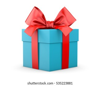 Gift box shutterstock gift box for christmas new years day red blue sky gift box white background negle Images