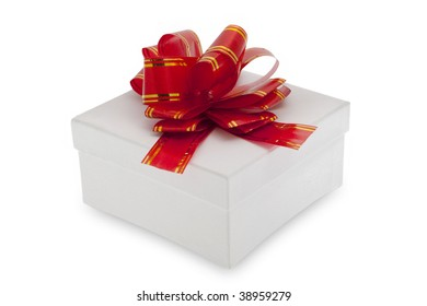 Gift box with decoration ribbon