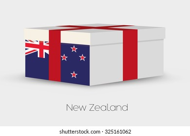 A Gift Box with the flag of New Zealand