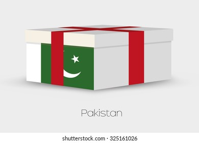 A Gift Box with the flag of Pakistan