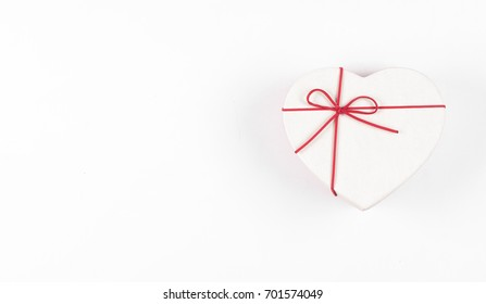 Gift box in the form of a heart