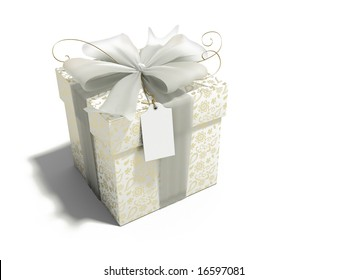 gift box with gold print