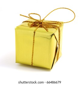 Gift box gold Special people on special offer.