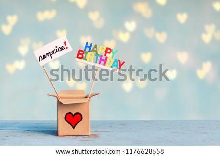 Gift Box Happy Birthday Surprise On Stock Photo Edit Now