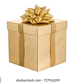 Gift box isolated on a white background.