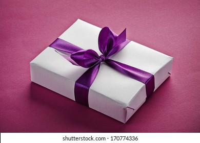 gift box on a purple background