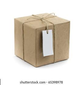 gift box over white background