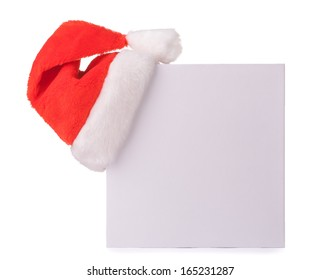 gift box with a red Santa Claus hat