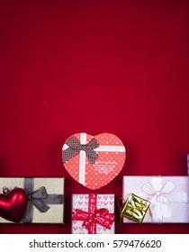 gift box set on background