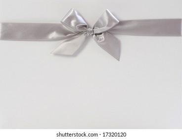 gift box with silver ribbon