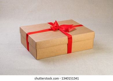 Gift box tied with band