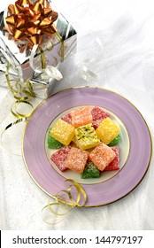 Gift box and turkish sweet