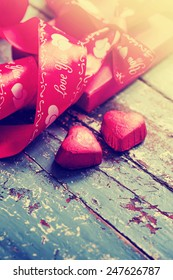 Gift box,chocolates for Valentine's day