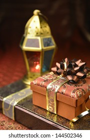 Gift boxes with arabic lantern