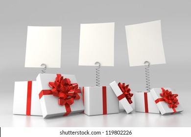 Gift boxes with blank cards