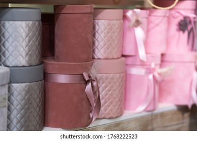 Gift boxes covered with soft cloth. Gift Box Design