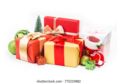 Gift boxes on background