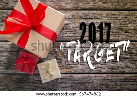 Gift Boxes On Rustic Wooden Table Stock Photo Edit Now 567474862