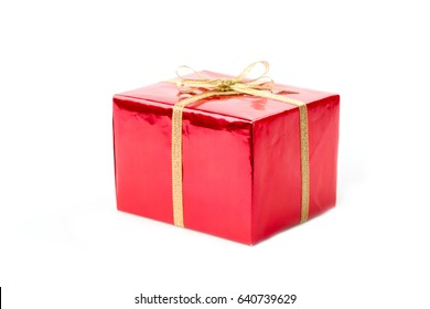 gift boxes on white background with space for text
