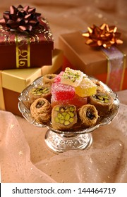 Gift boxes and sweets