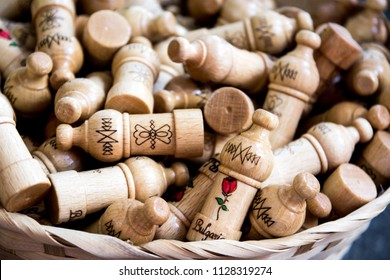 gift from Bulgaria - wooden souvenir with rose oil or rose duft inside