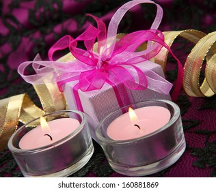 Gift and candle