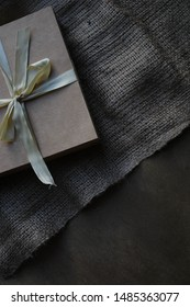 Gift envelope on a piece of fabric