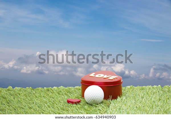 gift for golfer with sky background