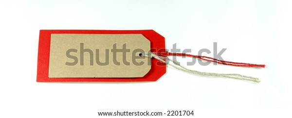 Gift Label - Red and Brown color