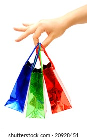 Gift packages in a hand