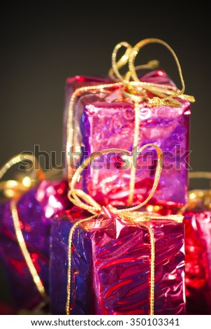 Gift packages for a party such as Christmas or birthday & Gift Packages Party Such Christmas Birthday Stock Photo (Edit Now ...