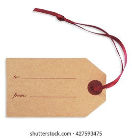 Gift or Price tag, isolated on White