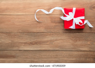 gift in red packing for new year or birthday
