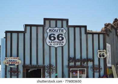 Gift Shop In Oatman, June 22, 2017. Route 66, Oatman. Arizona USA, EEUU.