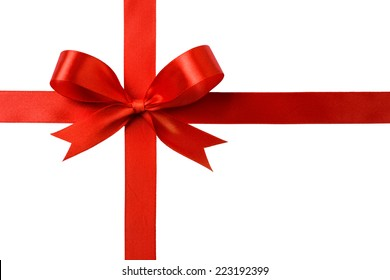red ribbon bow with crosswise ribbons images stock photos vectors