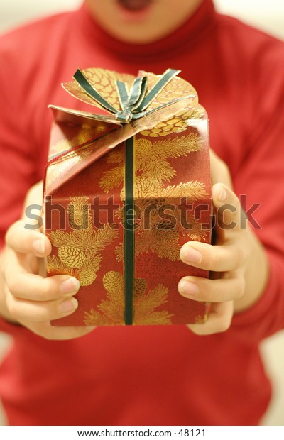 Gift time (focus on gift)