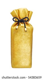 gift wrapped bottle